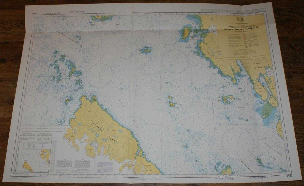 Nautical Chart No. 4936 Canada - British Columbia, Chatham Sound, Approaches to Prince Rupert Harbour, Admiralty