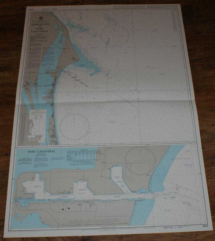 Nautical Chart No. 3692 United States - East Coast, Florida, Approaches to Port Canaveral, Admiralty