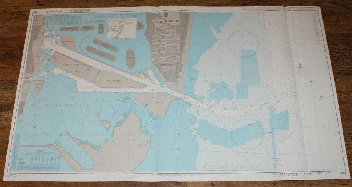 Nautical Chart No. 3698 United States - East Coast, Florida, Miami Harbor, Admiralty