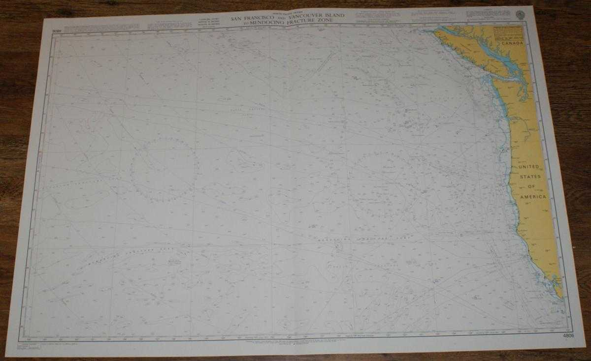 Nautical Chart No. 4806 North Pacific Ocean, San Francisco and Vancouver Island to Mendocino Fracture Zone, Admiralty