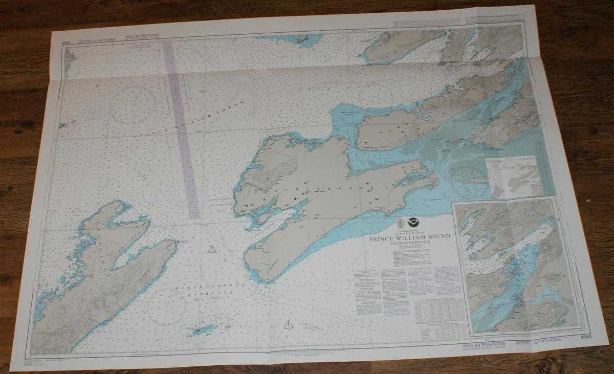 Image for Nautical Chart No. 4980 United States, Alaska - South Coast, Prince William Sound, Eastern Entrance