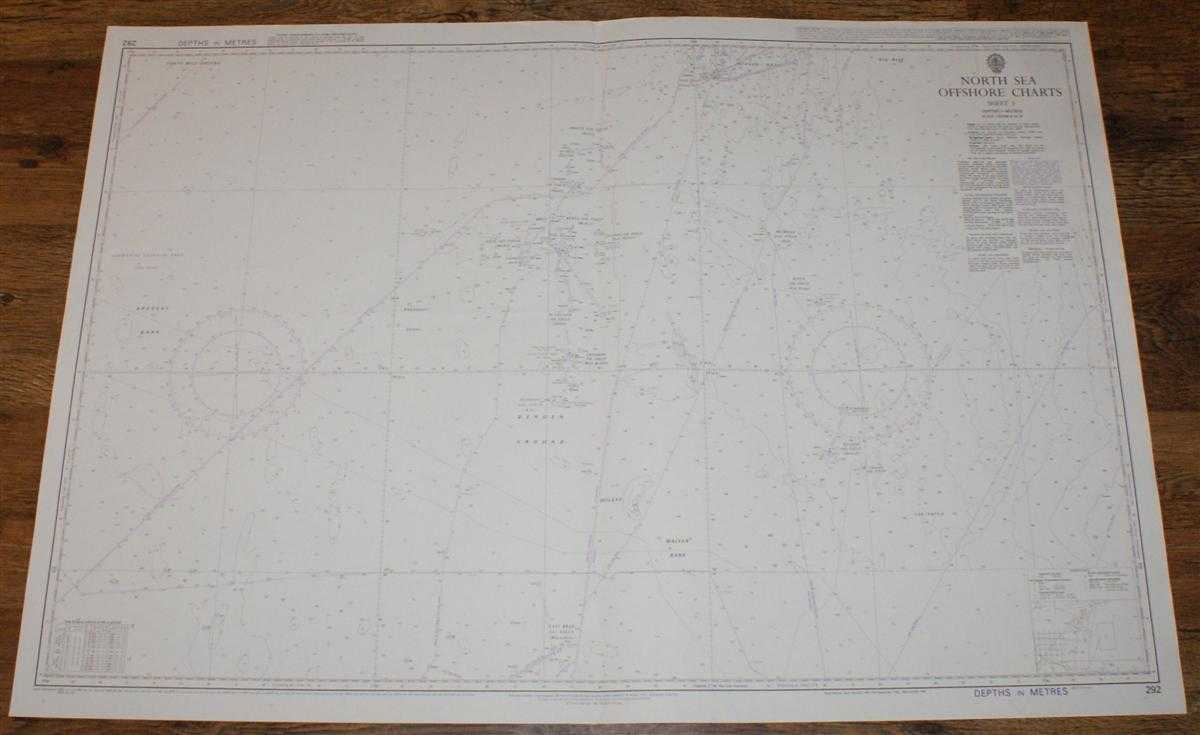 Nautical Chart No. 292 North Sea Offshore Charts - Sheet 3 with Oil & Gas Fields, Admiralty