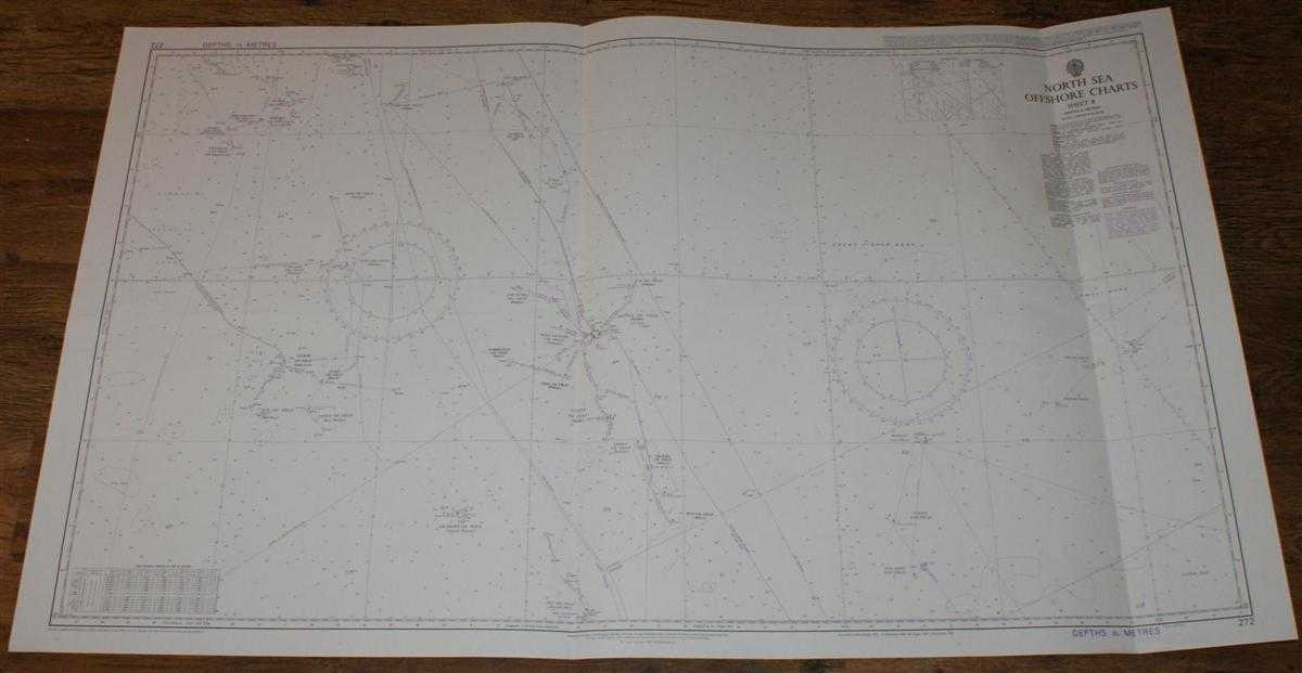 Nautical Chart No. 272 North Sea Offshore Charts - Sheet 8 with Oil & Gas Fields, Admiralty