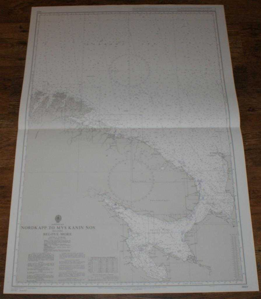 Nautical Chart No. 3180 Barents Sea - Nordkapp to Mys Kanin Nos incl. Beloye More, Admiralty