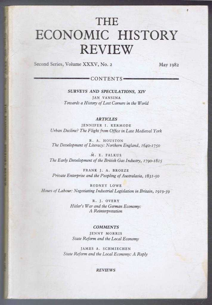 The Economic History Review. Second Series, Volume XXXV (35), No. 2, May 1982, A G Hopkins & B E Supple (eds)