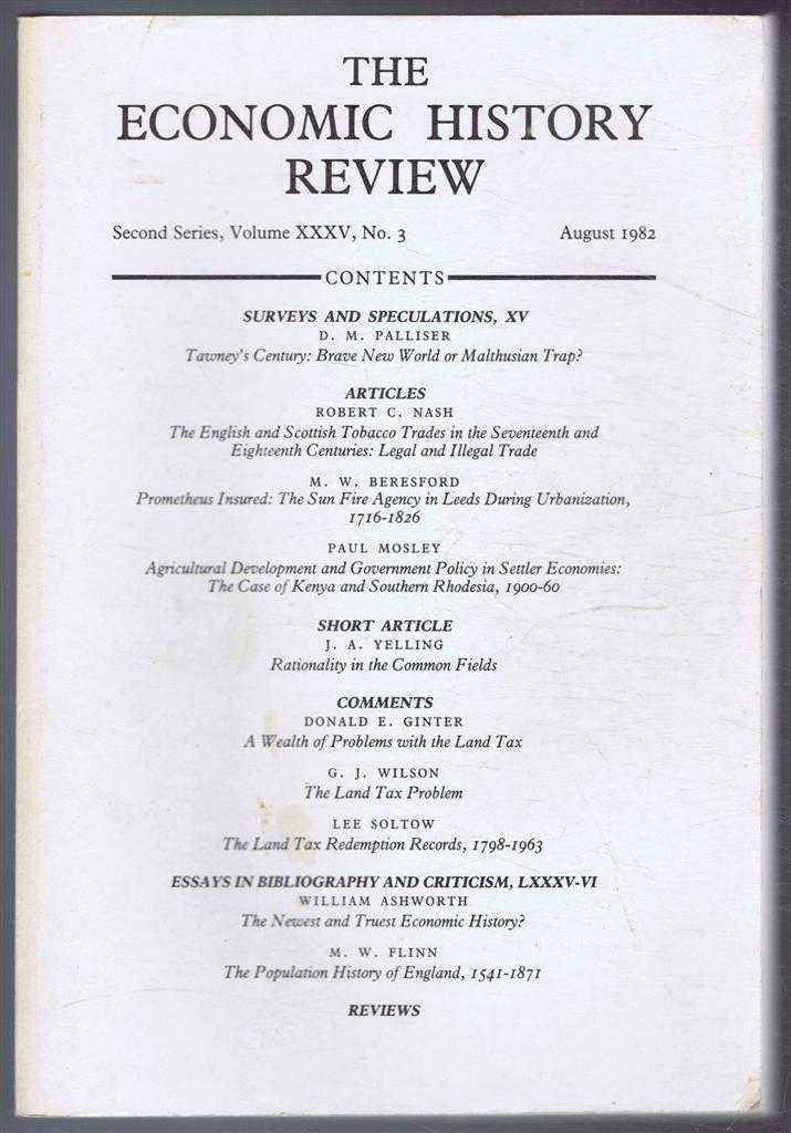 The Economic History Review. Second Series, Volume XXXV (35), No. 3, August 1982, A G Hopkins & B E Supple (eds)