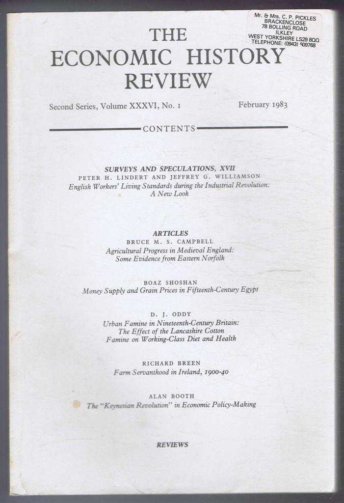 The Economic History Review. Second Series, Volume XXXVI (36), No. 1, February 1983, R A Church & A G Hopkins (eds)