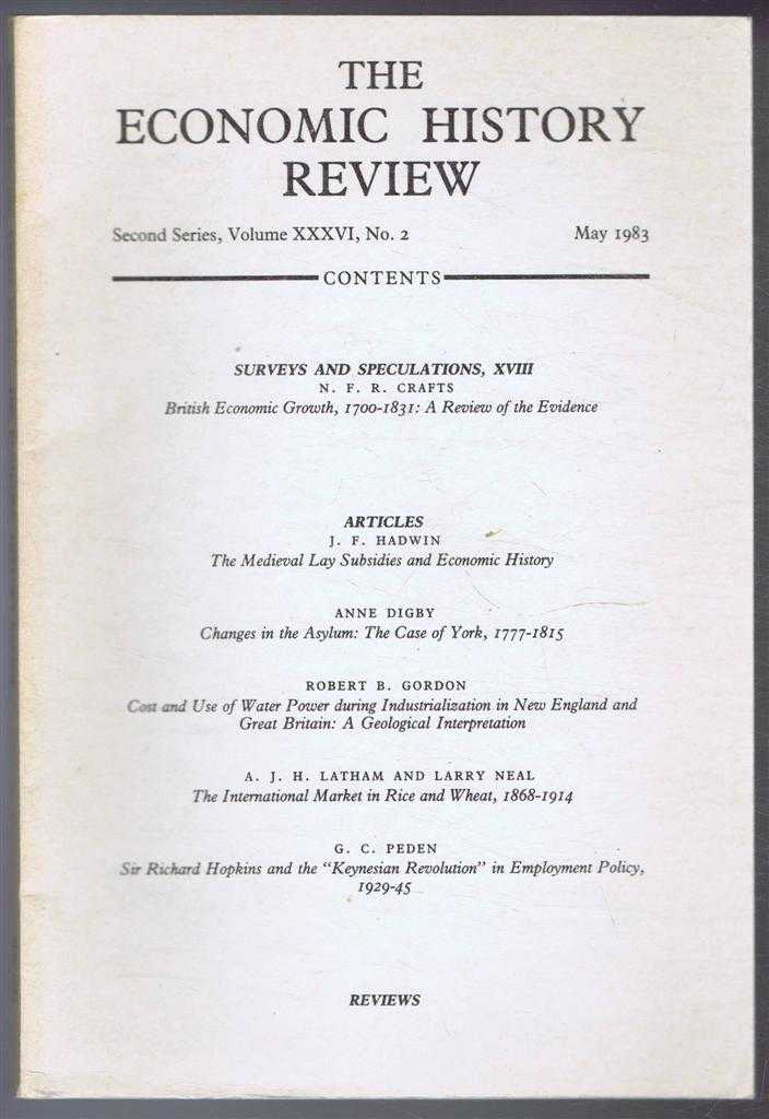 The Economic History Review. Second Series, Volume XXXVI (36), No. 2, May 1983, R A Church & A G Hopkins (eds)