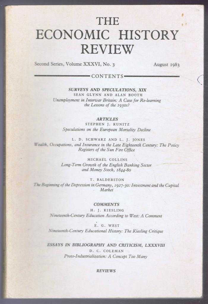 The Economic History Review. Second Series, Volume XXXVI (36), No. 3, August 1983, R A Church & A G Hopkins (eds)