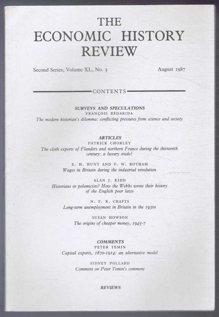 R A CHURCH & E A WRIGLEY (EDS) - The Economic History Review. Second Series, Volume XL (40), No. 3, August 1987