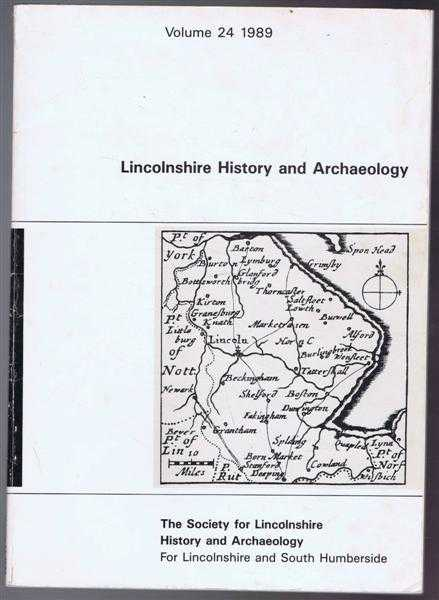 Image for Lincolnshire History and Archaeology, Volume 24 1989