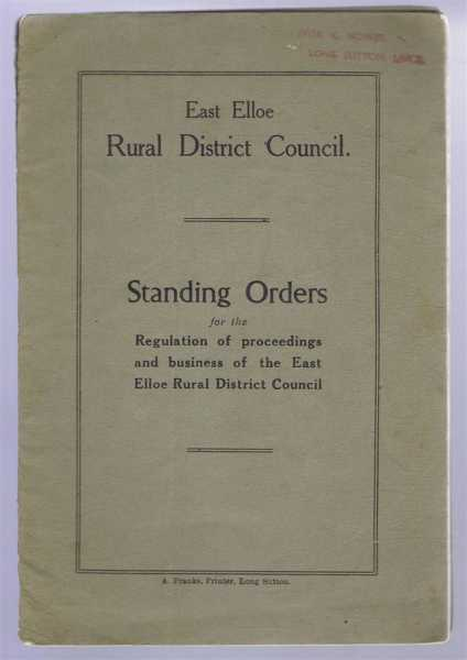 Image for East Elloe Rural District Council, Standing Orders for the Regulation of proceedings and business of the East Elloe Rural District Council
