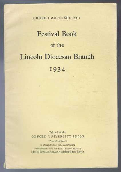 Festival Book of the Lincoln Diocesan Branch 1934, Church Music Society