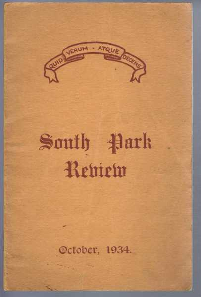 Image for South Park Review October 1934 (Lincoln)