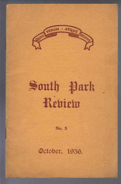 Image for South Park Review No. 5, October 1936 (Lincoln)
