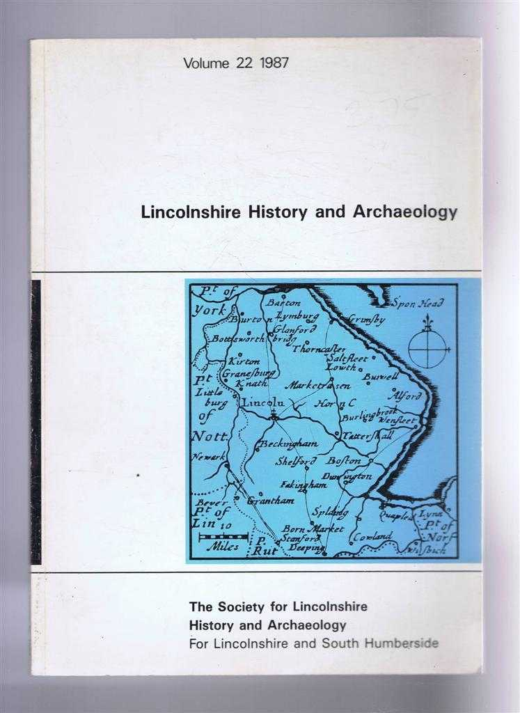 Image for Lincolnshire History and Archaeology Volume 22, 1987