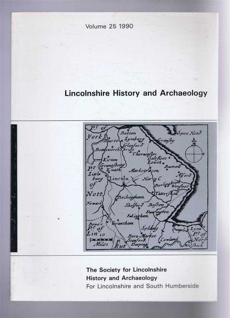 Image for Lincolnshire History and Archaeology Volume 25, 1990