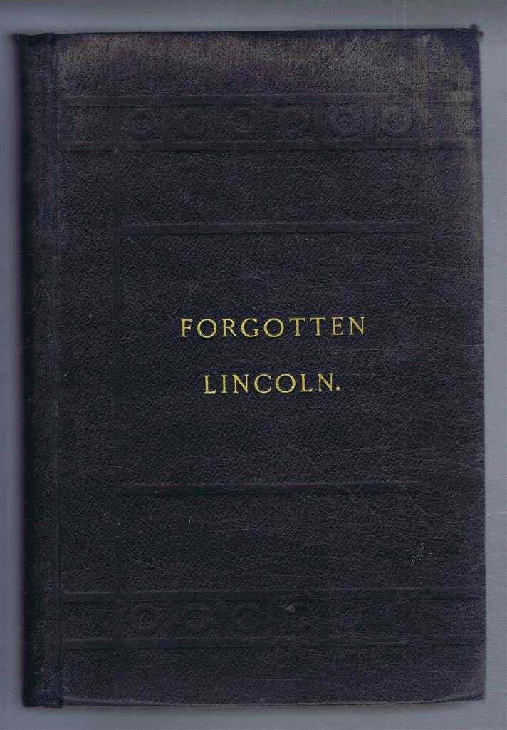 Image for Forgotten Lincoln, A History of the City from the Earliest Times