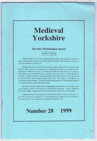 Image for Medieval Yorkshire, Number 28, 1999