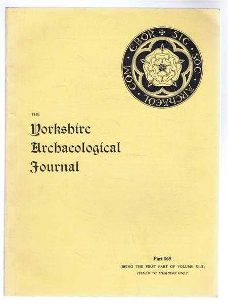 Image for The Yorkshire Archaeological Journal, First Part of Vol. XLII (42) Part 165, 1967