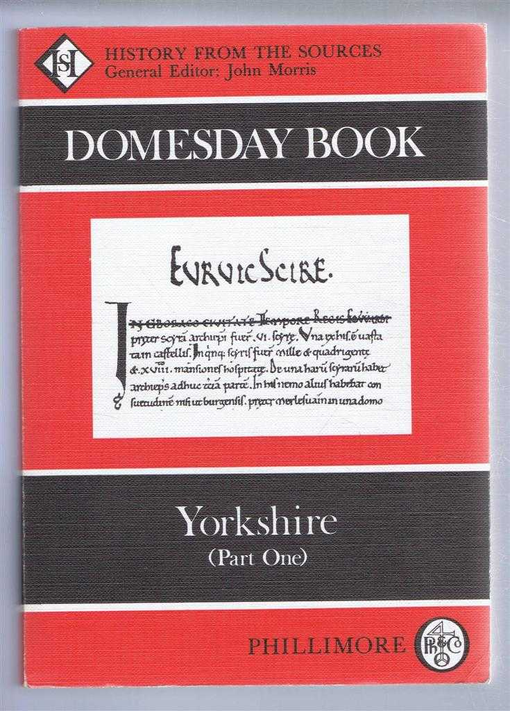 Domesday Book. Volume 30: Yorkshire (Part Two), (Ed) Margaret L Faull & Marie Stinson