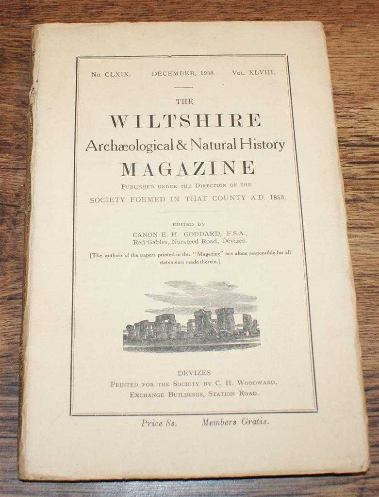 Image for The Wiltshire Archaeological & Natural History Magazine. No. CLXIX (169),Volume XLVIII (48), December 1938