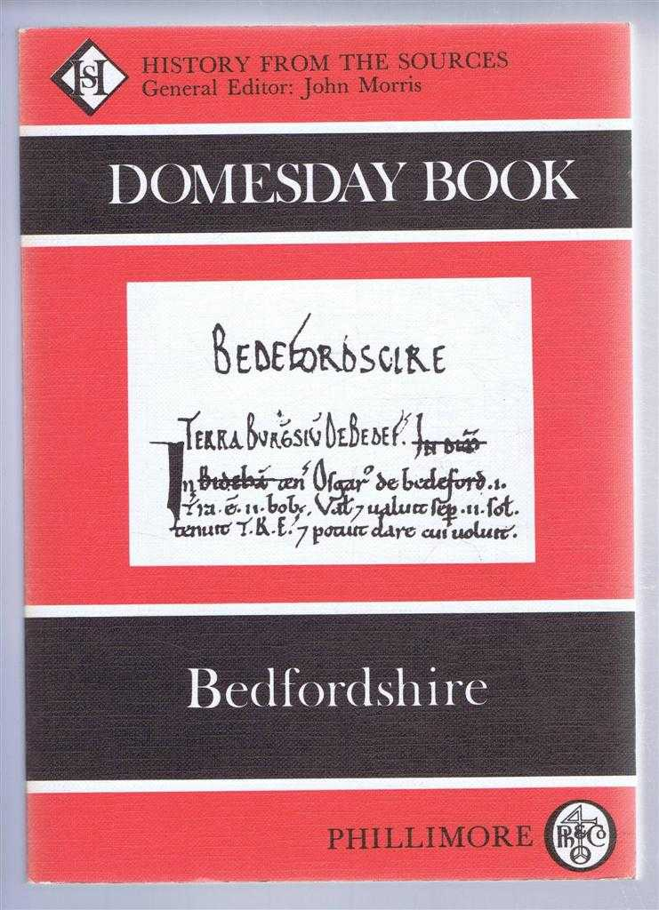 Domesday Book. Volume 20: Bedfordshire, (Ed) John Morris from a draft translation prepared by Veronica Sankaran & David Sherlock