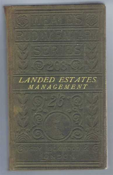 Image for Outlines of Landed Estates Management, Weale's Rudimentary Series