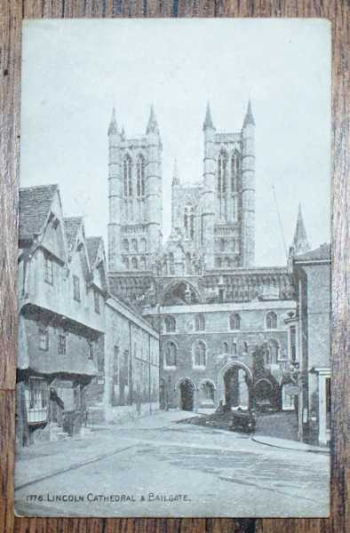 """Image for Postcard No. 1776 """"Lincoln Cathedral & Bailgate"""""""
