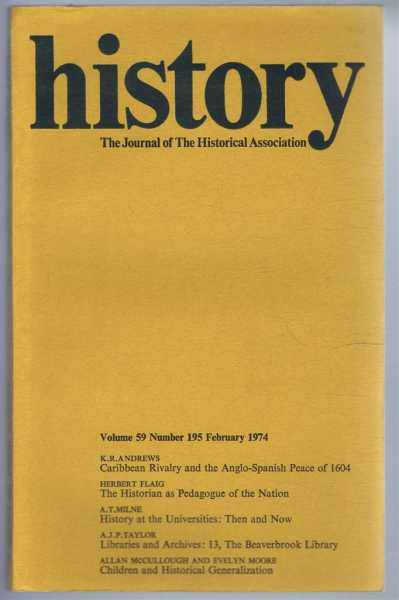 Image for History: The journal of the Historical Association, Volume 59, Number 195, February 1974