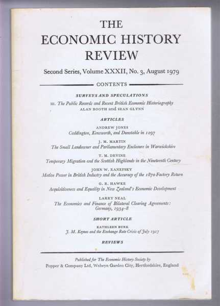 The Economic History Review, Second Series, Volume XXXII, No. 3, August 1979, Edited by B E Supple and F L M Thompson