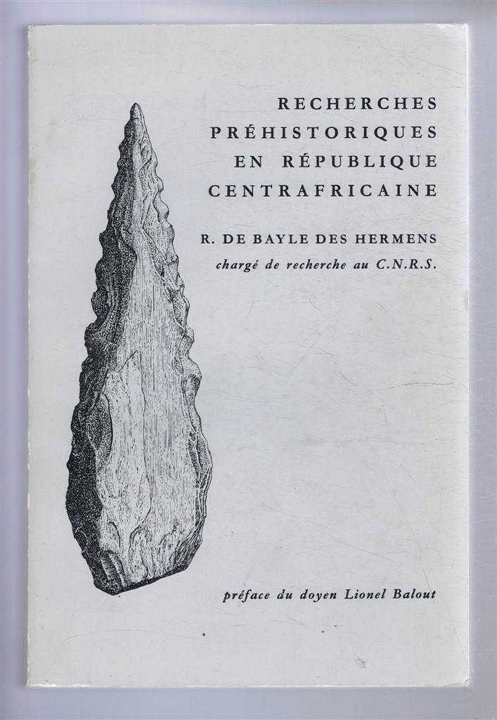 Image for Recherches Prehistoriques en Republique Centrafricaine
