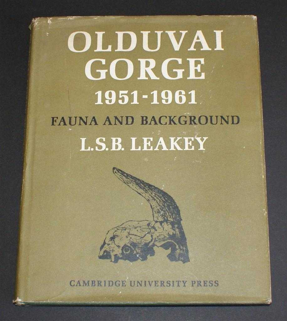Image for Olduvai Gorge 1951-61, Volume I, a Preliminary Report on the Geology and Fauna