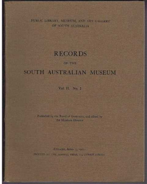 Image for Records of the South Australian Museum, Vol II. No. 2, April 3, 1922