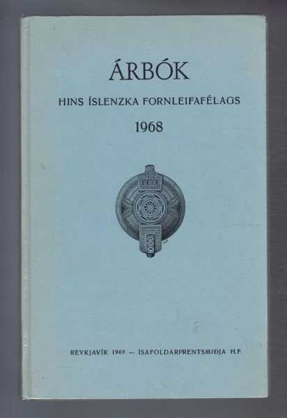 Image for Arbok Hins Islenzka Fornleifafelags 1968 (Yearbook of the Icelandic Archaeological Society)