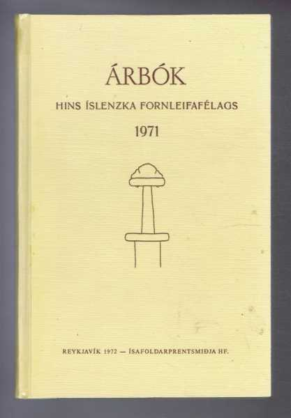 Image for Arbok Hins Islenzka Fornleifafelags 1971 (Yearbook of the Icelandic Archaeological Society)