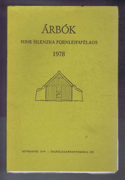 Image for Arbok Hins Islenzka Fornleifafelags 1978 (Yearbook of the Icelandic Archaeological Society)