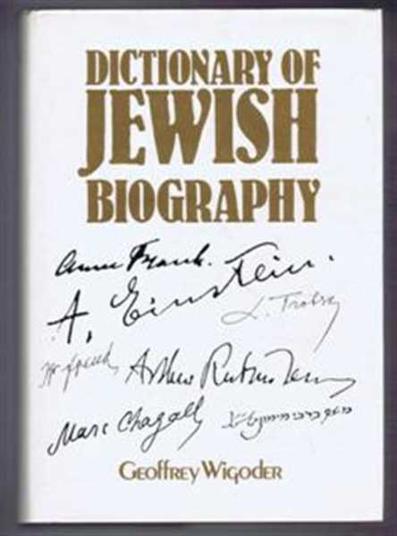 Dictionary of Jewish Biography, Wigoder, Geoffrey