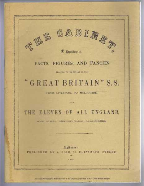 "Image for THE CABINET: a Repository of facts, figures, and Fancies Relating to the Voyage of the ""Great Britain"" S.S. From Liverpool to Melbourne Etc Etc"