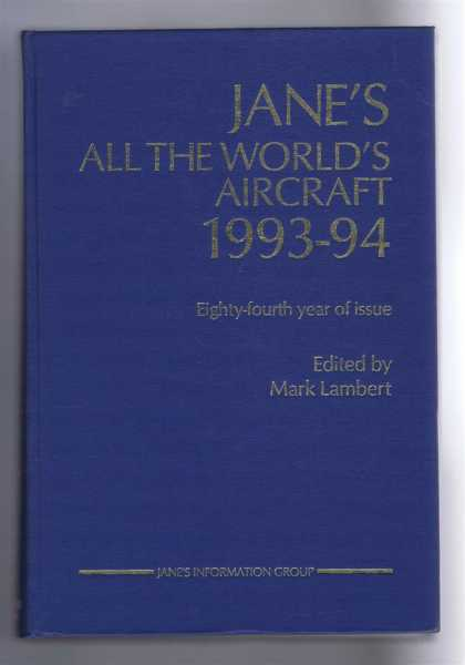 Image for Jane's All the World's Aircraft 1993-94; 84th year of issue