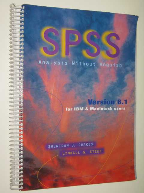 SPSS Analysis Without Anguish 6.1, Coakes, Sherdian J.
