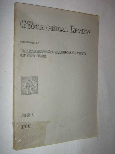Image for The Geographical Review April 1919