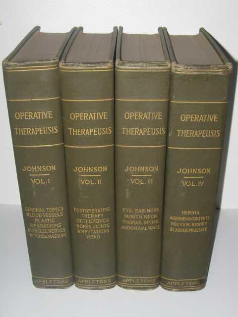 Operative Therapeusis Volumes 1-4, Johnson,Alexander Bryan (edited)