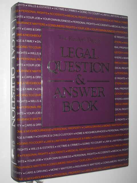 Legal Question & Answer Book, Bowen,Jan