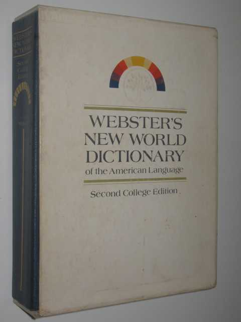 Webster's New World Dictionary of the American Language Second College Edition, Webster, Noah & McKechnie, Jean Lyttleton