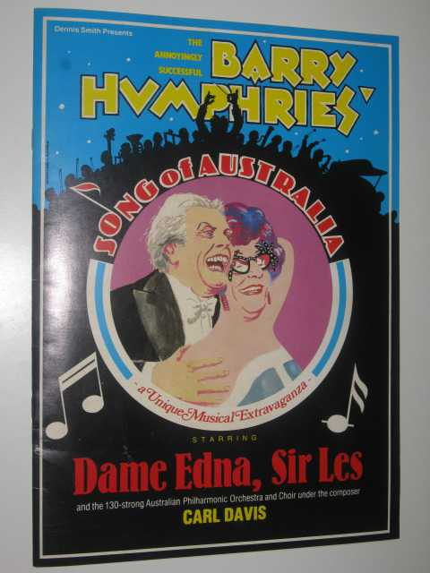 Song of Australia: An Educational Sonarama Crafted by Barry Humphries and Carl Davis, Program Guide, Author Not Stated