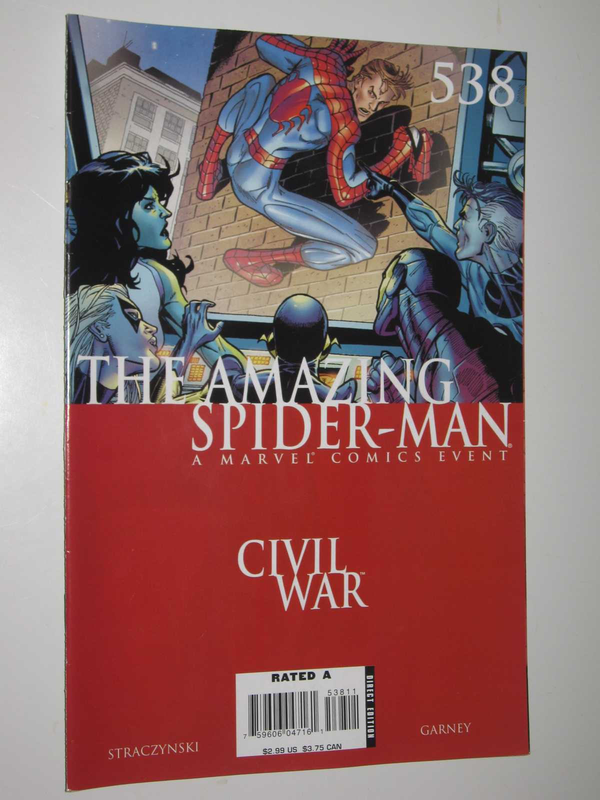 Amazing Spider-man #538 - Civil War: The War At Home Part 7 of 7, Straczynski, J. Michael