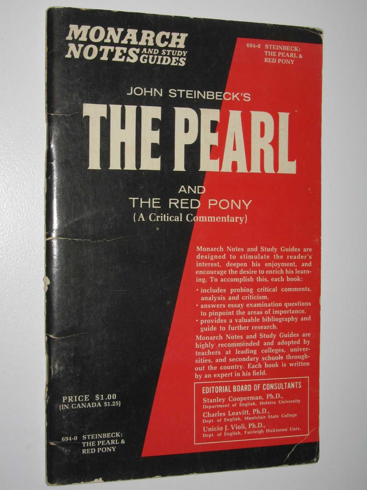 John Steinbeck's The Red Pony and The Pearl : Monarch Notes and Study Guides, Armand, Schwerner