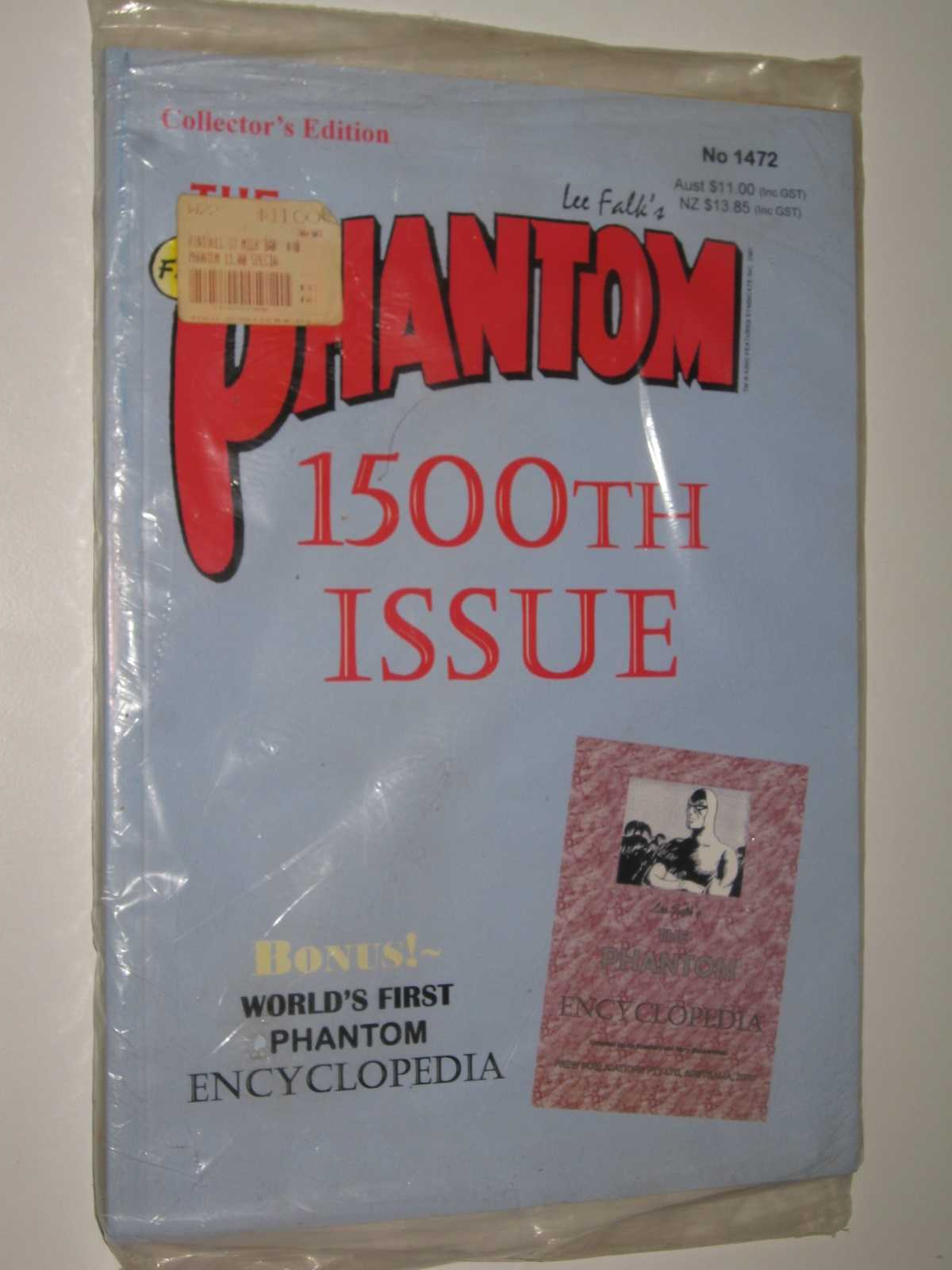 The Phantom #1472, 1500th Issue + The Phantom Encyclopedia, Fall, Lee