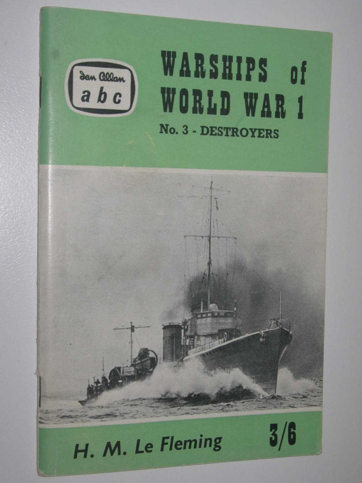 Image for Warships of World War 1 No. 3 - Destroyers (British and German)